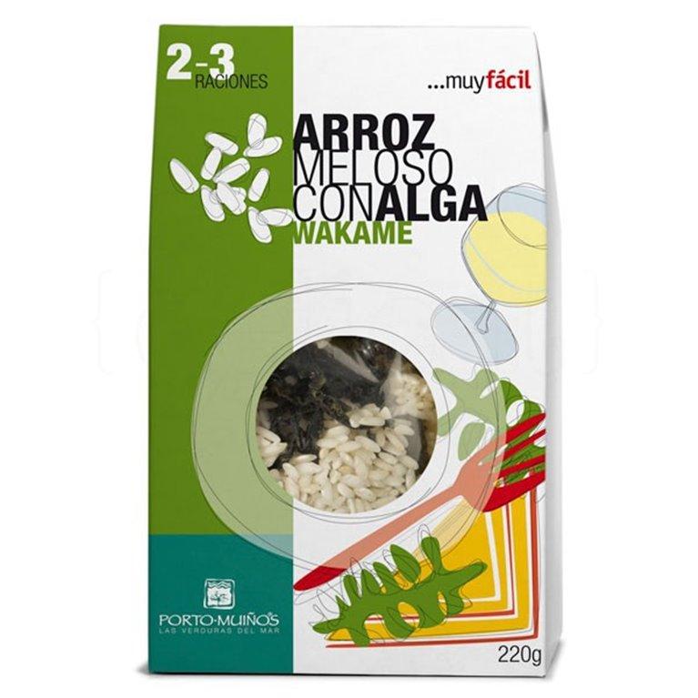 Arroz meloso con alga wakame 220gr. Porto-Muiños. 4un., 1 ud