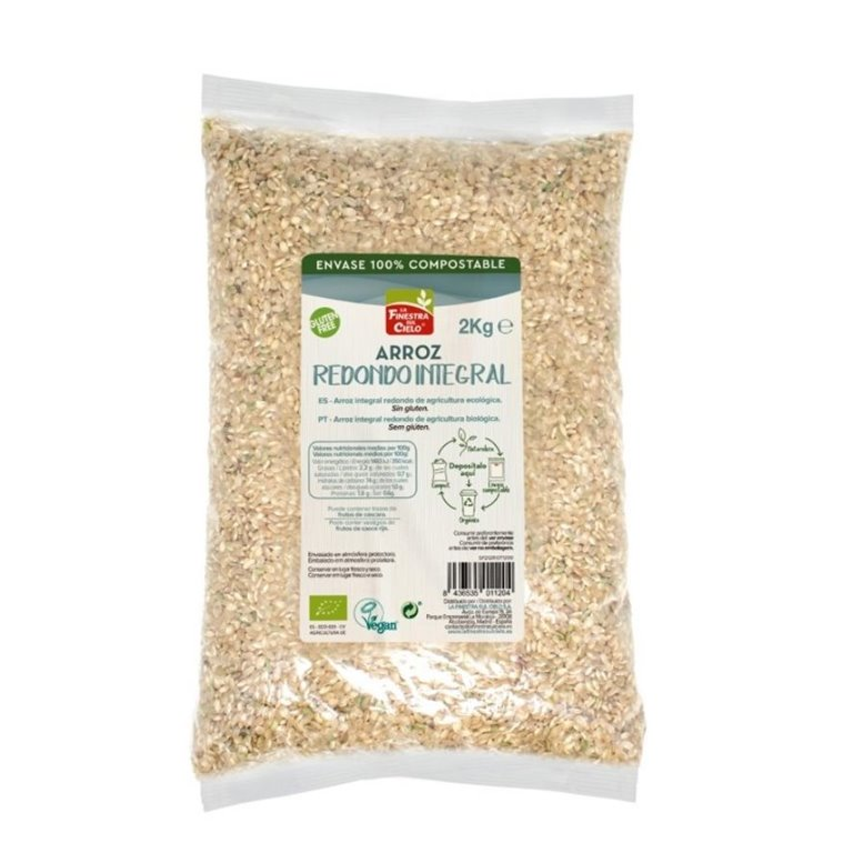 Arroz Redondo Integral Bio 2kg