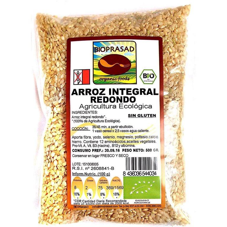 Arroz Redondo Integral Bio 500g, 1 ud