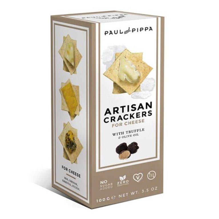 Artisan Crackers con Trufa 130gr. Paul & Pippa. 10un, 1 ud