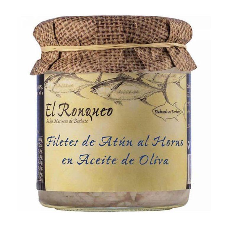 Atún al horno en Aceite de Oliva. El Ronqueo