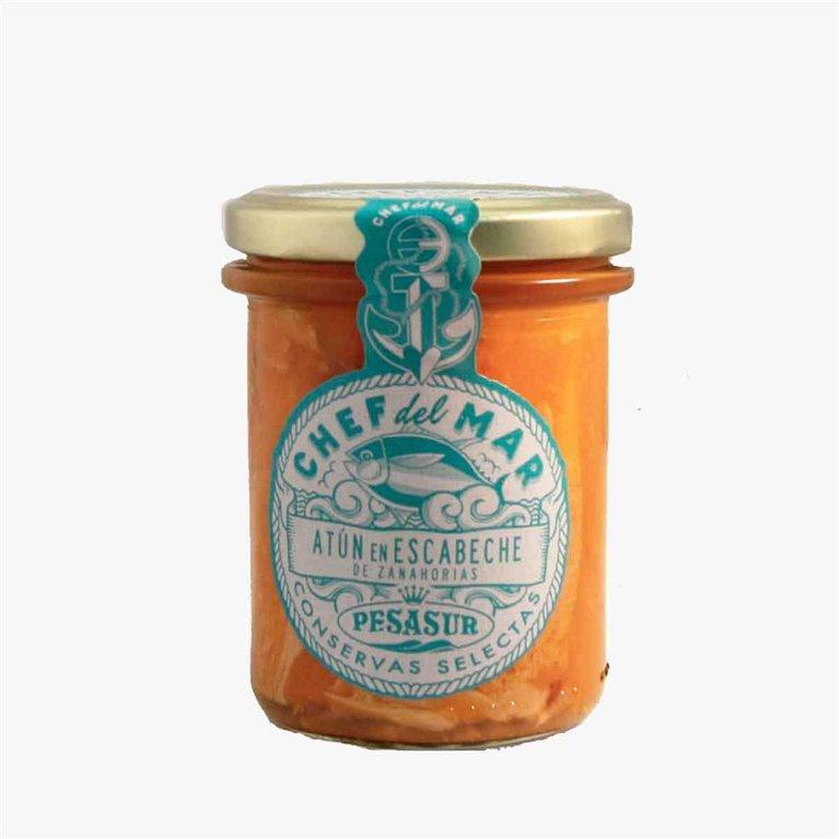 Atún en escabeche de zanahorias 195 g Pesasur