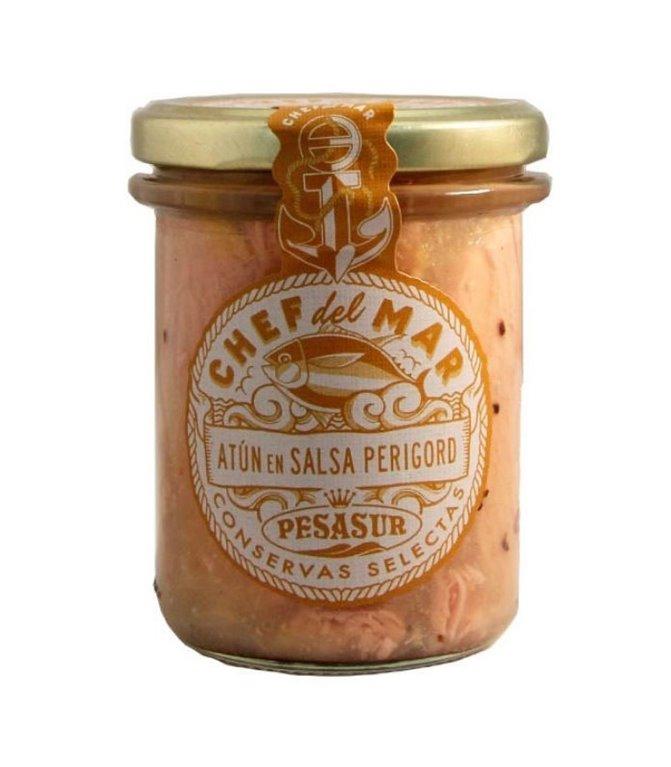 Atún en salsa Perigord Chef del Mar