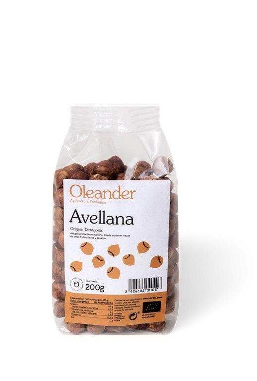 Avellanas natural, 200 gr