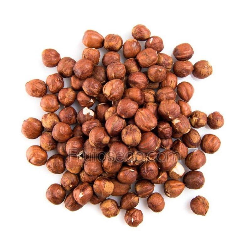 Avellanas naturales crudas con piel, bolsa 250 gramos