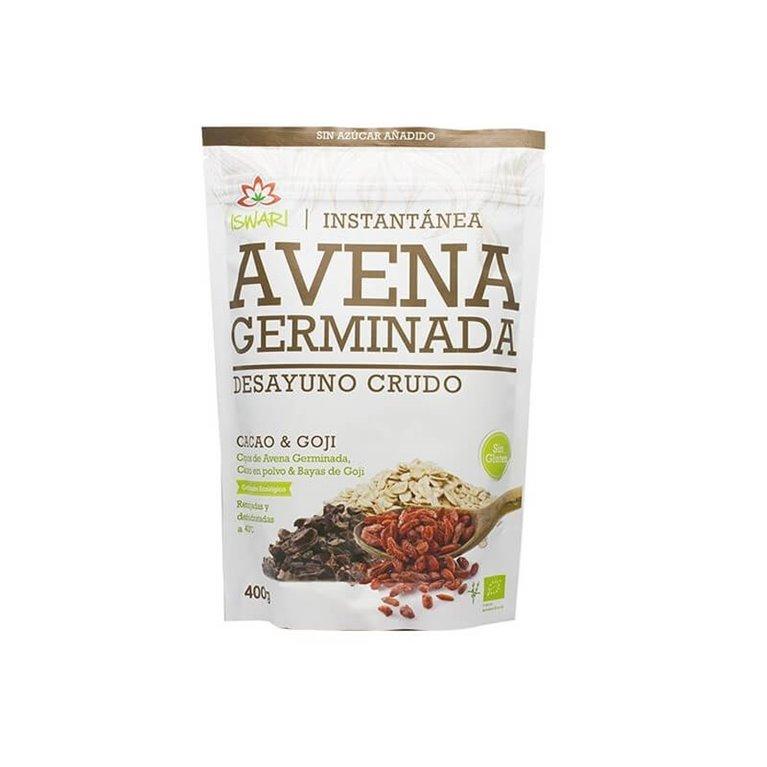 Avena germinada con cacao y goji, 400 gr