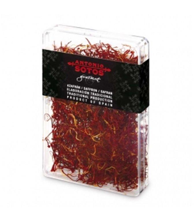 Azafrán D.O. Mancha (caja plástico) 4gr. Antonio Sotos. 12un.