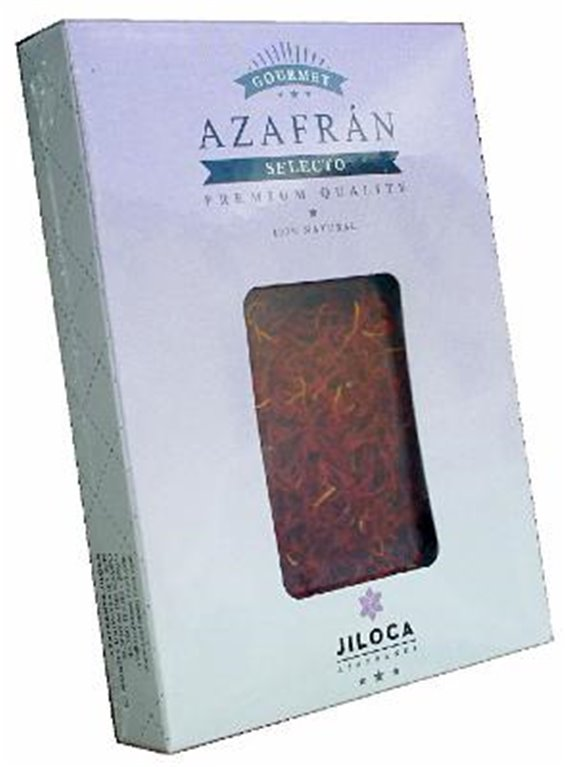 Azafrán selecto 0,50gr caja retractilada Azafranes Jiloca, 1 ud