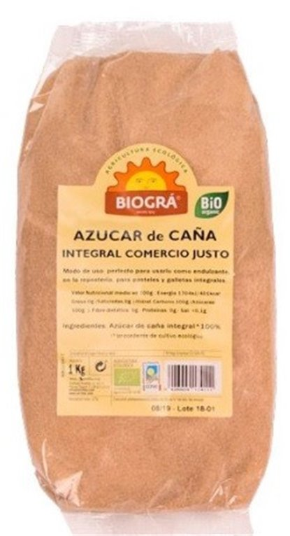 Azúcar de Caña Integral Bio Fairtrade 1kg