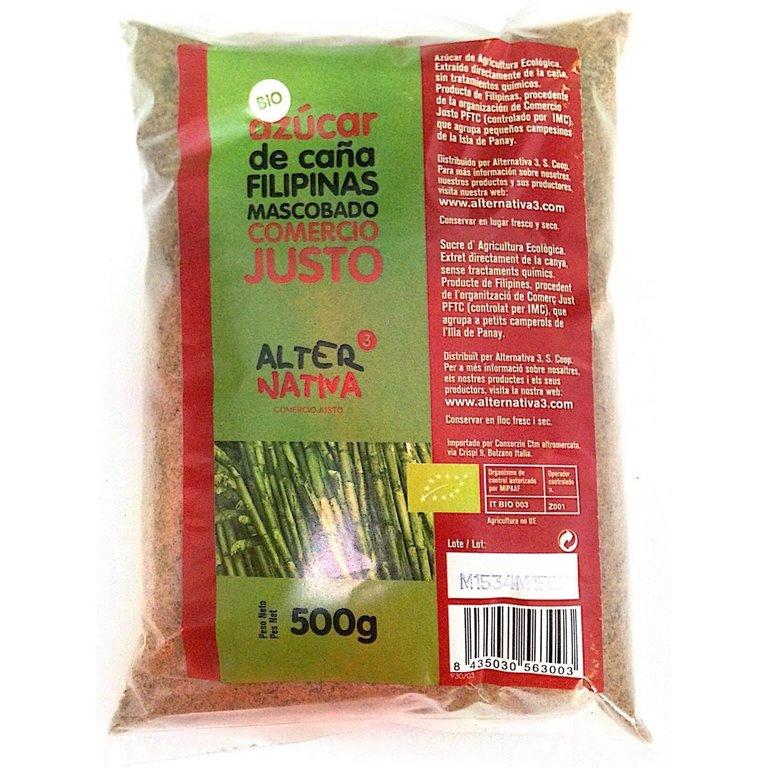 Azúcar de Caña Mascobado Bio Fairtrade 500g