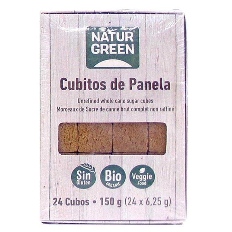 Azúcar de Caña Integral Panela en Cubitos Bio 150g (24uds.)