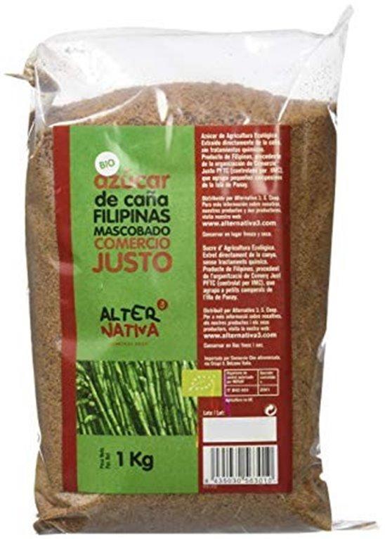 Azúcar de Caña Integral Tipo Mascabado Bio 1kg