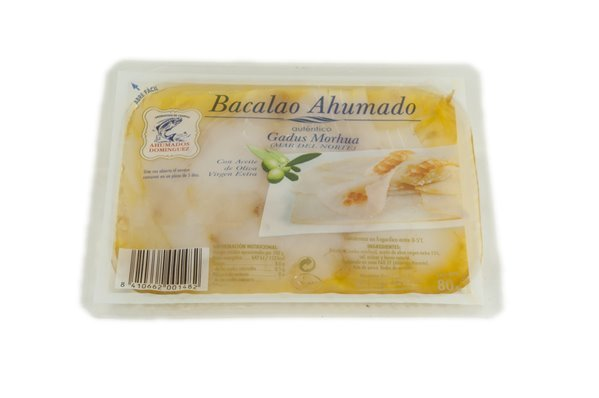 BACALAO AHUMADO DOMÍNGUEZ 80 GRS