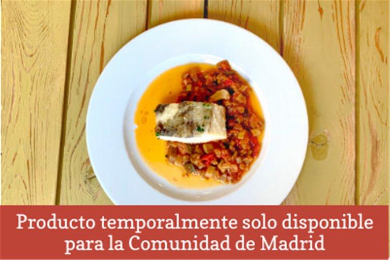 Bacalao con fritada de verduras (350gr)