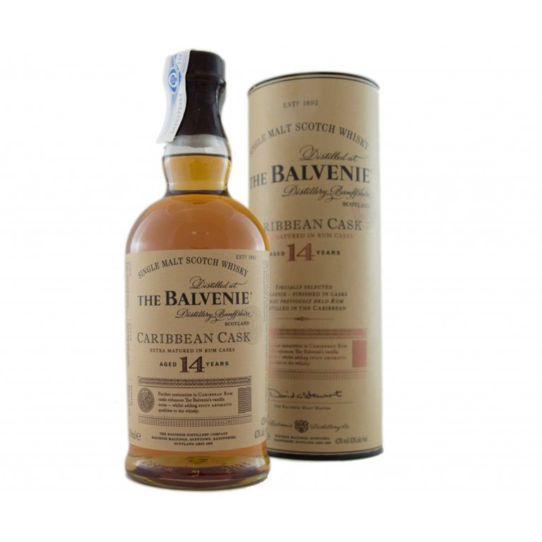 BALVENIE 14 YO CARIBBEAN CASK 0,70 L. + ESTUCHE