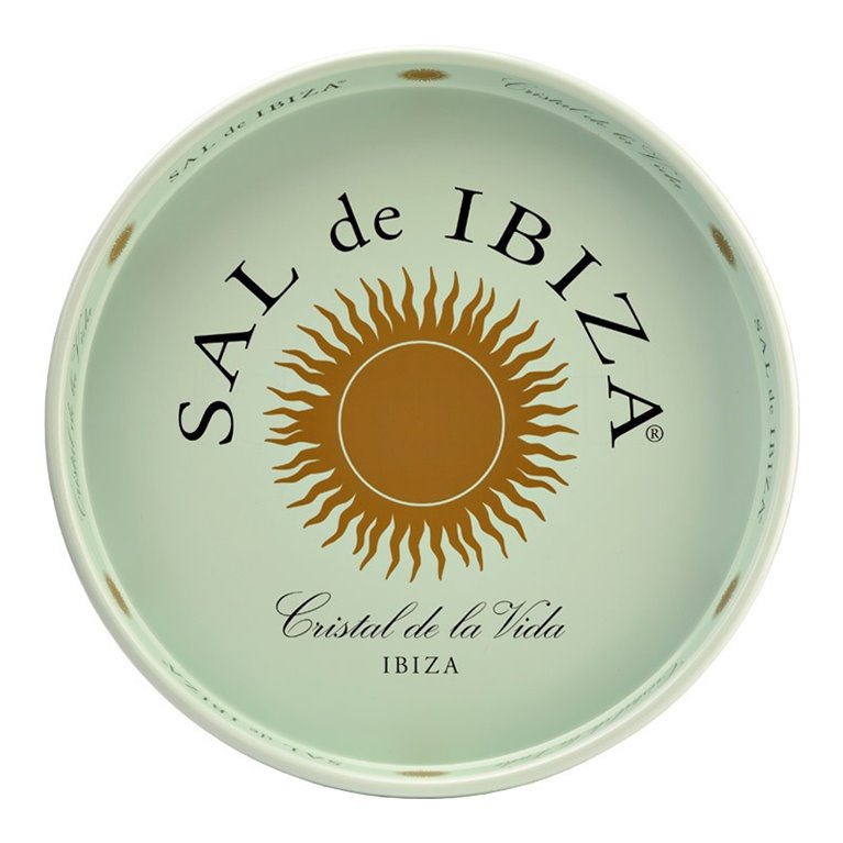 Bandeja Metálica de Sal de Ibiza. Sal de Ibiza. 1un., 1 ud