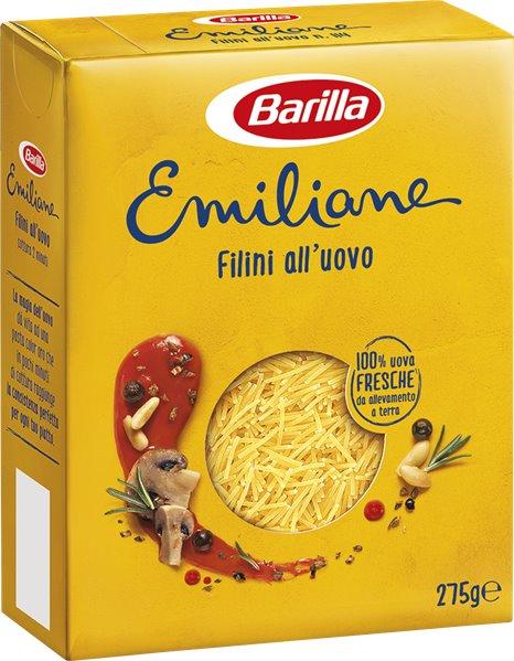 Barilla Emiliane Pasta al Huevo Filini 275g