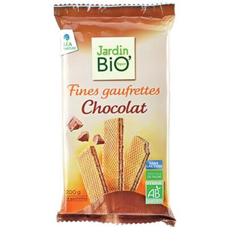 Barquillos de chocolate, 200 gr
