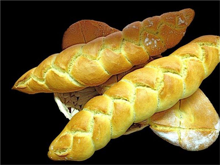 Barra de pan trenza