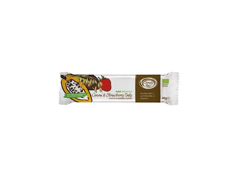 Barrita Avena germinada con fresa y Cacao, 500 gr