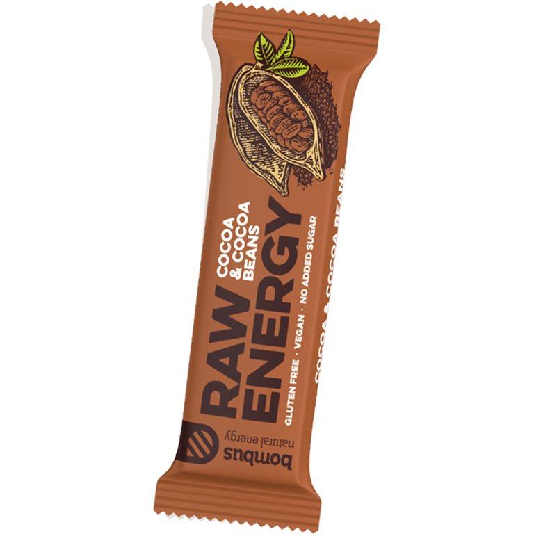 Barrita Raw Energy de Cacao y Granos de Cacao Sin Gluten 50g