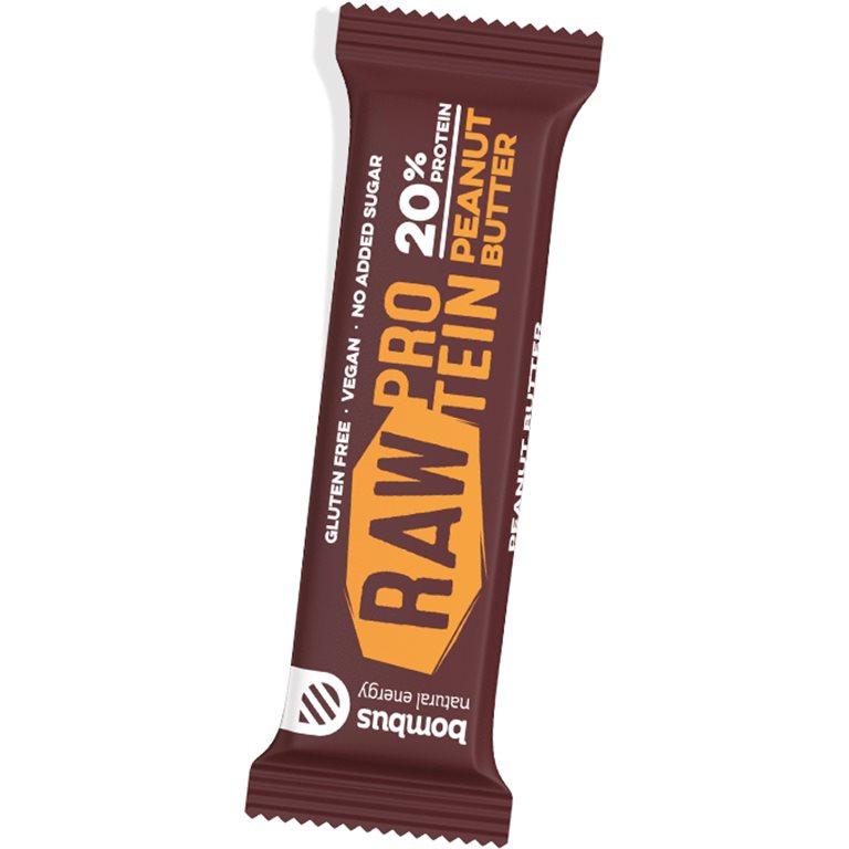 Barrita Raw Protein de Manteca de Cacahuete Sin Gluten 50g, 1 ud