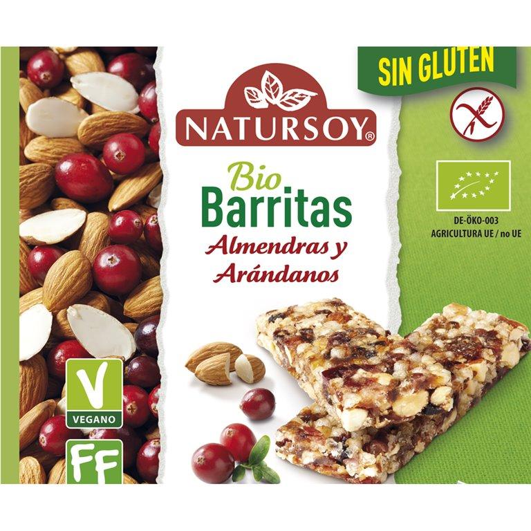 Barritas de Almendra y Arándanos Sin Gluten Bio 90g