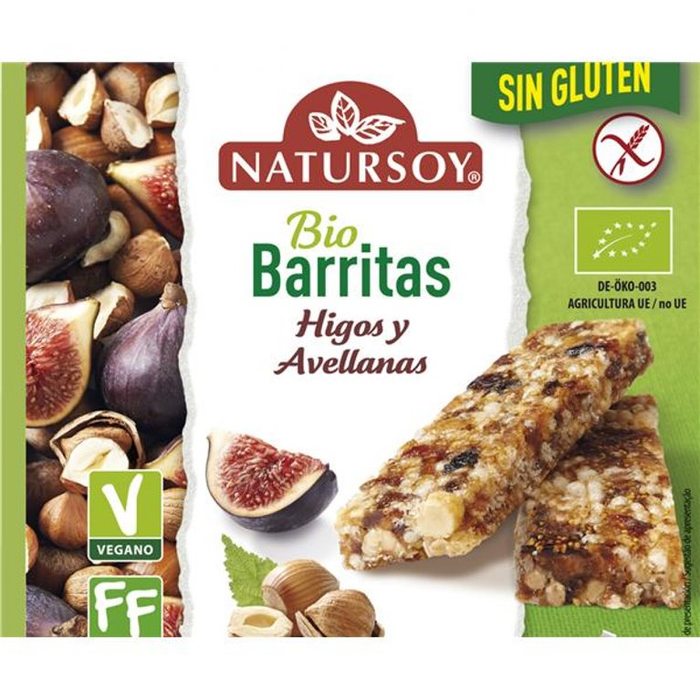 Barritas de Avellanas y Higos Sin Gluten Bio 90g