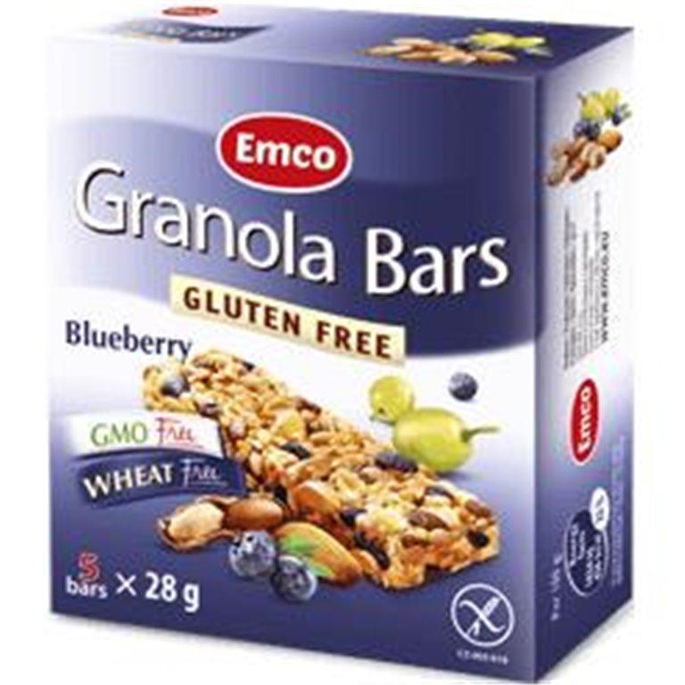 Barritas de Granola con Arándanos Sin Gluten 140g