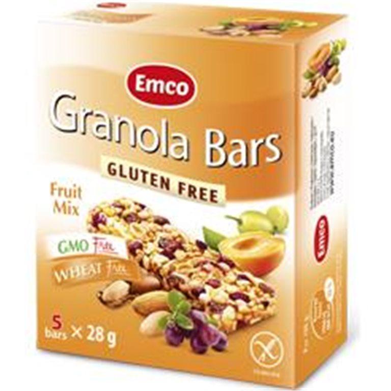Barritas de Granola Fruit Mix Sin Gluten 140g