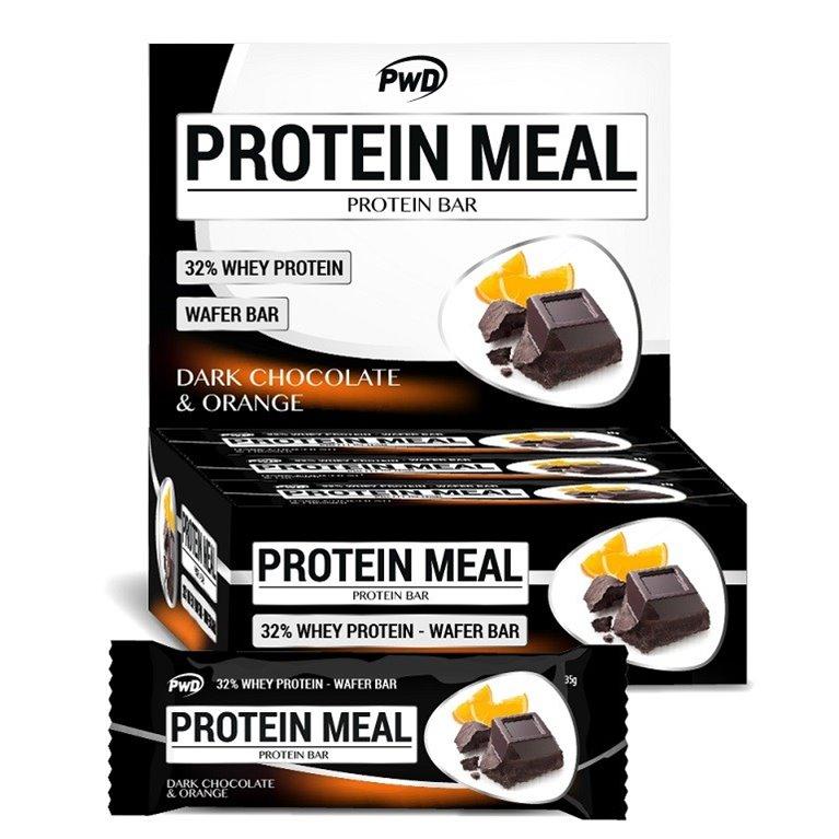 Barritas Protein Meal Sabor Chocolate Negro con Naranja 12 x 35g