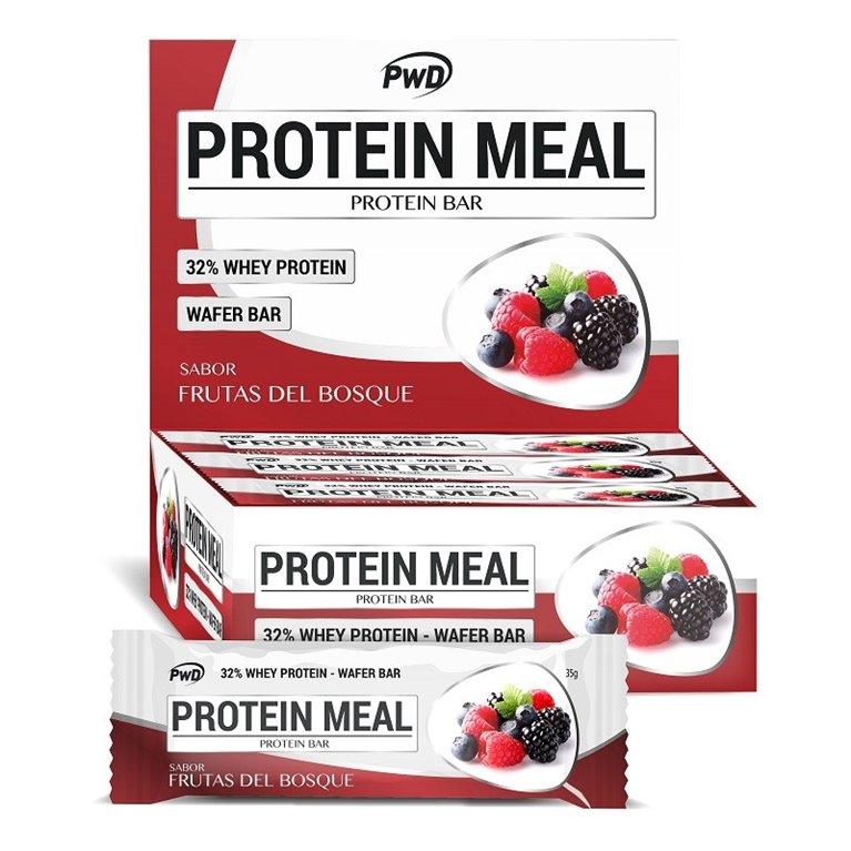 Barritas Protein Meal Sabor Frutas del Bosque 12 x 35g