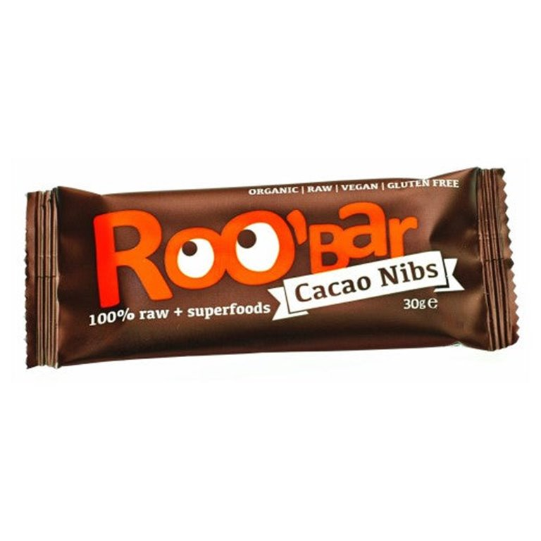 Barritas Raw de Nibs de Cacao y Almendra Sin Gluten Bio 30g
