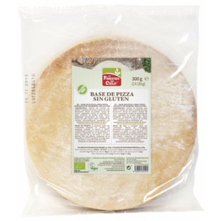 Bases de Pizza Sin Gluten Bio 300g, 1 ud