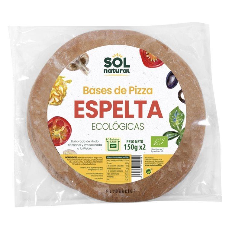Bases de Pizza de Espelta Integral Bio 300g, 1 ud