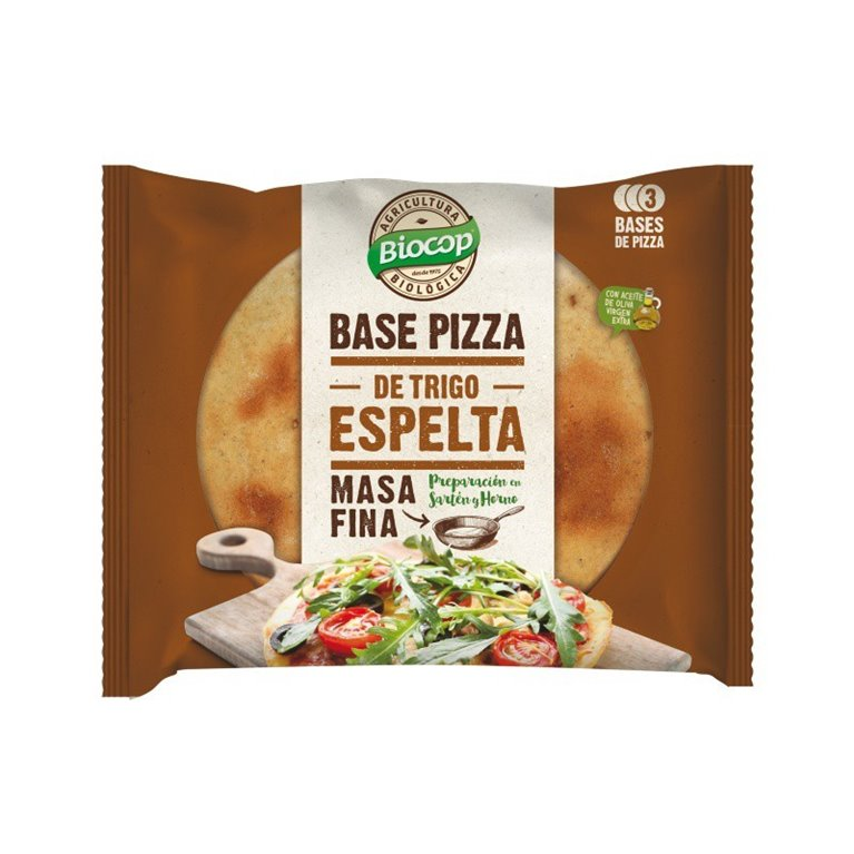 Bases de Pizza de Espelta (Masa Fina) Bio 390g