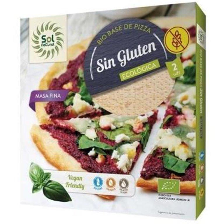 Bases de Pizza Sin Gluten Bio 260g, 1 ud
