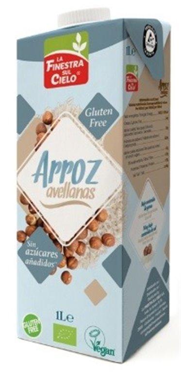 Bebida de Arroz con Avellanas Bio 1L, 1 ud