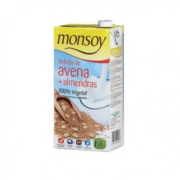 Bebida de avena + almendras BIO monsoy, 1 l