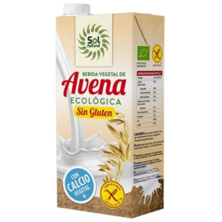Bebida de Avena con Calcio Vegetal Sin Gluten Bio 4L (4 x 1L)