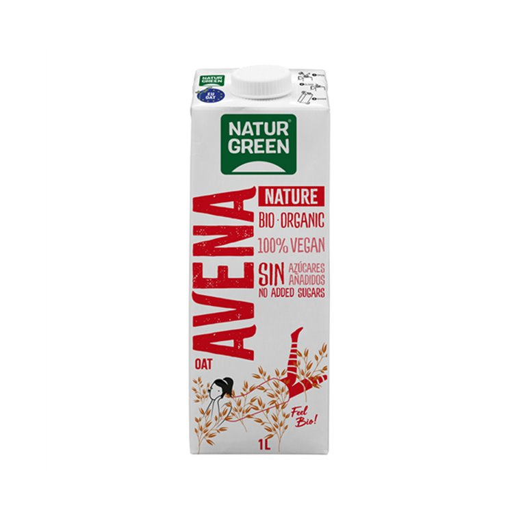 Bebida de Avena Nature Bio sin Azúcar añadida Naturgreen 1L