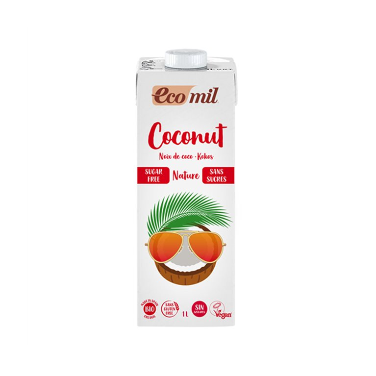 Bebida de Coco Nature Sin Azúcares Bio 1l Ecomil