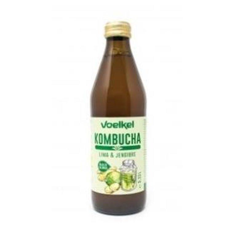 Kombucha Drink Lime and Ginger Bio 330ml