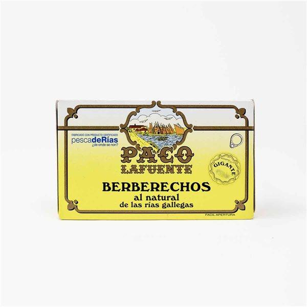 Berberechos al Natural 20/30 uds Paco Lafuente