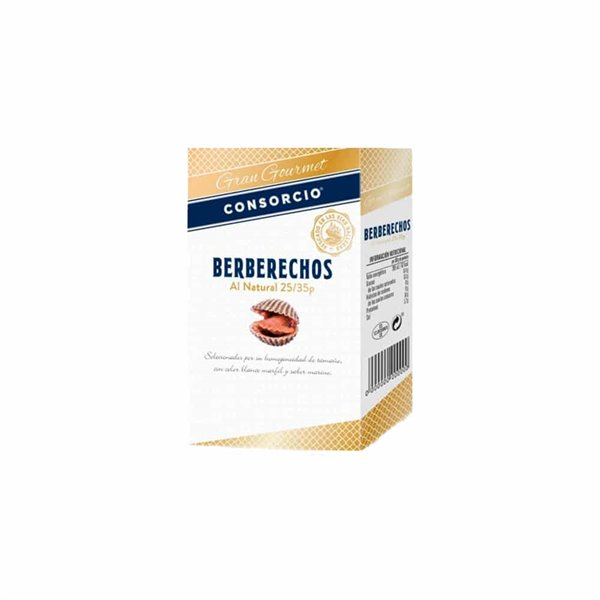 Berberechos al natural 25/35 pzs Gran Gourmet