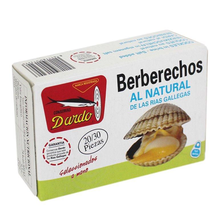 Berberechos al natural de Rias Gallegas OL-120, 20/30u. Dardo. 25un., 1 ud