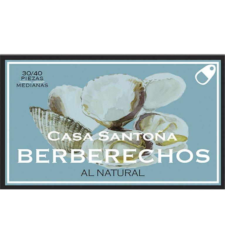 Berberechos al Natural Casa Santoña 30/40, 1 ud