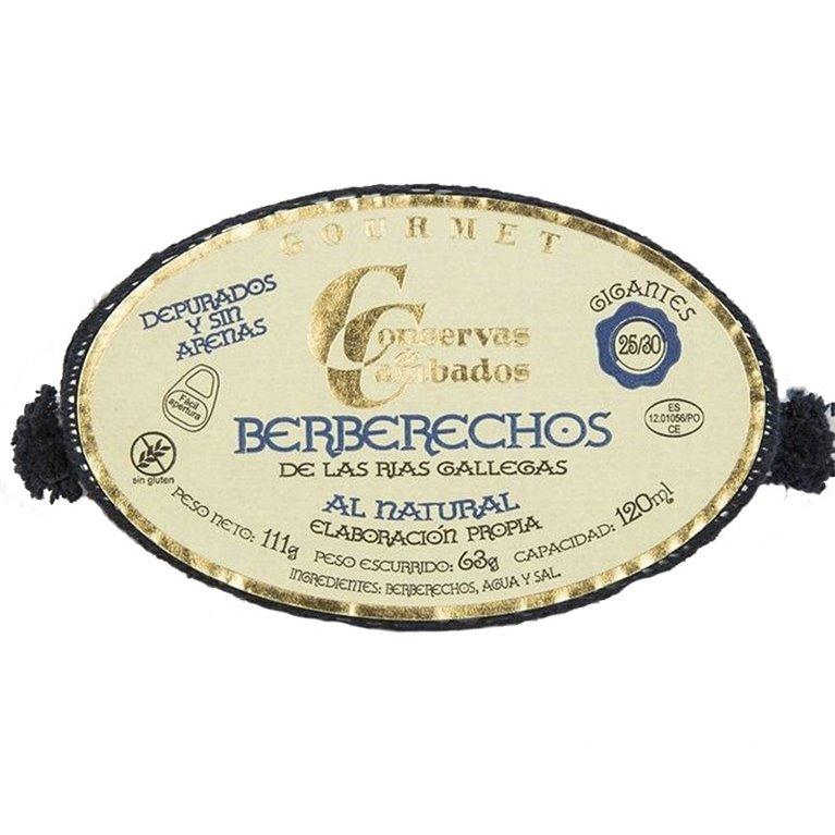 Berberechos de las Rías Gallegas al Natural 25/30 111gr (GIGANTES) Conservas Cambados
