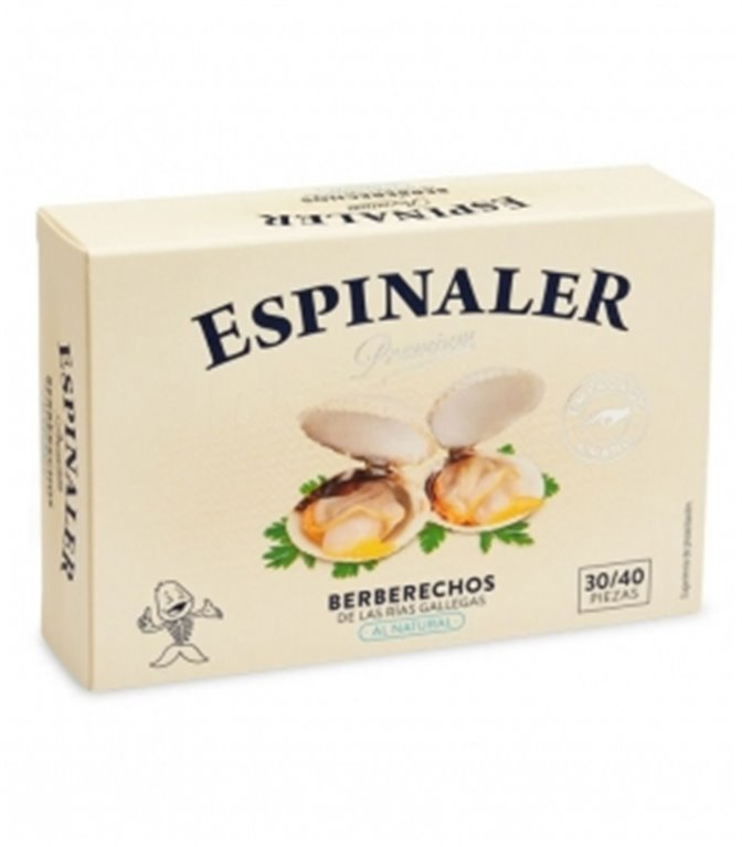 Berberechos empacados a mano OL-120 (30/40 piezas). Espinaler. 24un.
