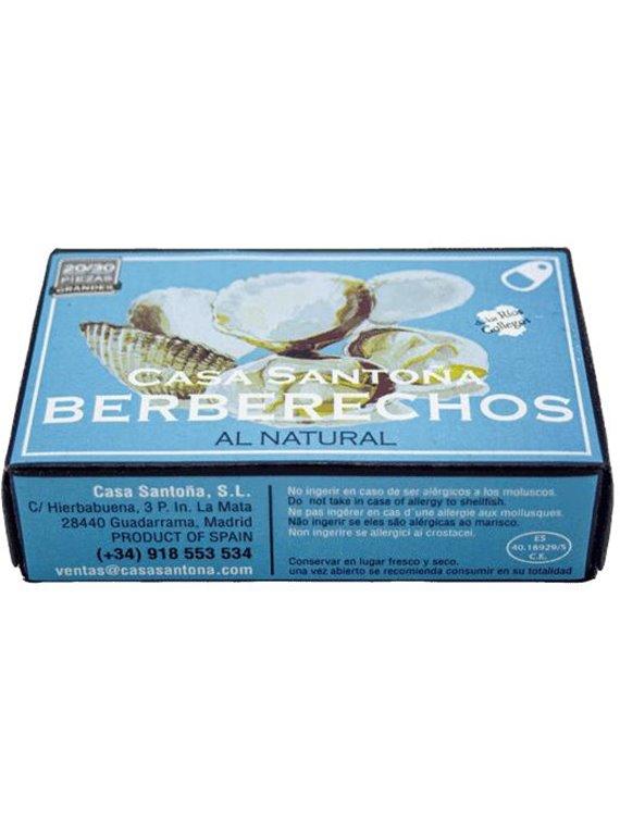Berberechos en conserva al natural 20/30
